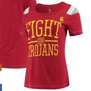 Women's Cardinal USC Trojans Jacky T-Shirt NWT